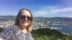 At Victoria Mountain with a view of wellington
